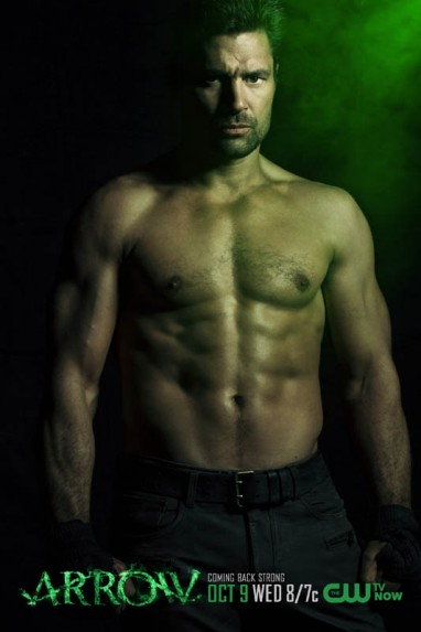 manu Bennett shirtless naked arrow promo poster limited edition rare hot promo
