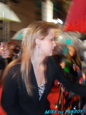 Jennifer Lawrence signing autographs for fans hunger games