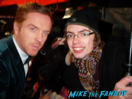Damien Lewis signing autographs for fans