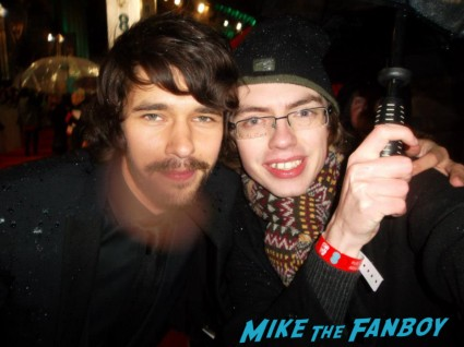 Ben Whishaw signing autographs for fans