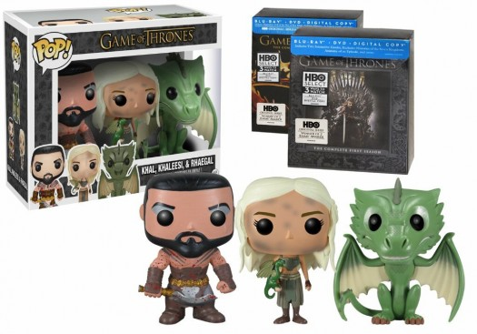Game of Thrones limited edition season 1 and 2 blu ray set pop funko limited edition figure