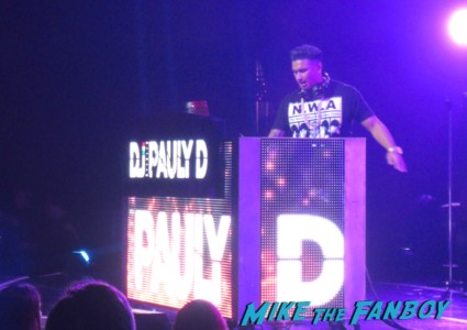 DJ Pauley D opening for the backstreet boys at gibson ampitheatre