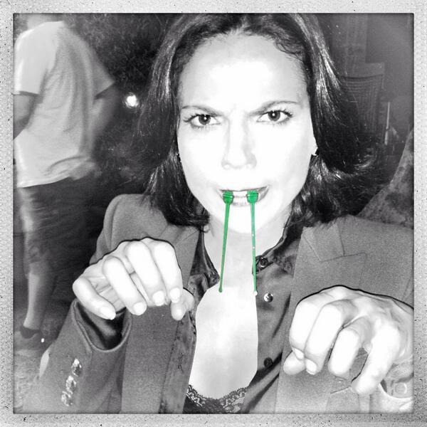 Lana Parrilla behind the scenes still photo rare the evil queen rare hot