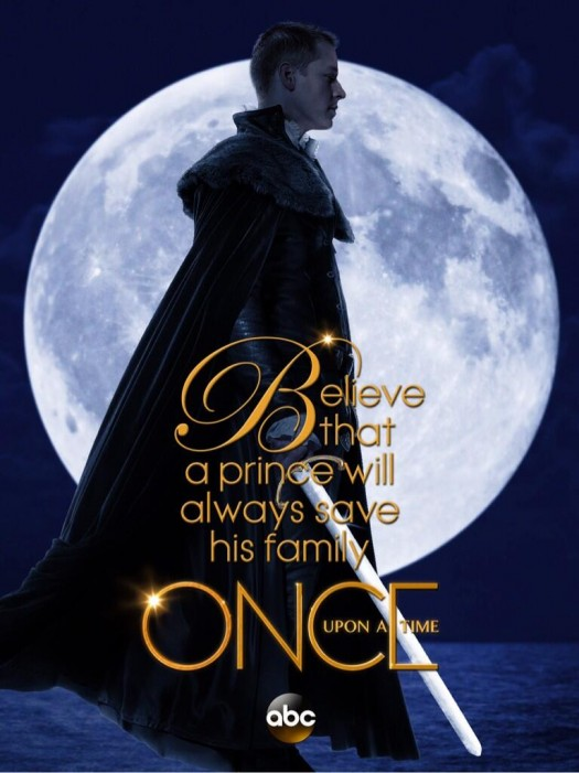 Josh dallas prince charming abc once upon a time season 3 individual promo poster believe that a prince will always save his family once upon a time promo poster season 3 ABC series