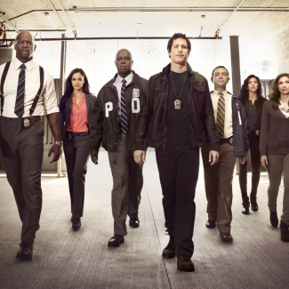 Brooklyn nine nice rare promo cast photo rare andy samberg