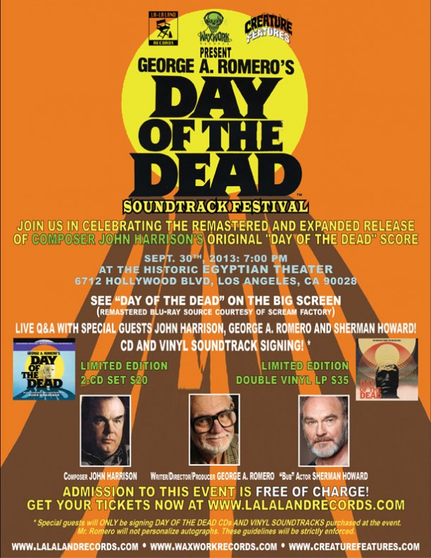 Day of the dead logo film festival screening rare george romero