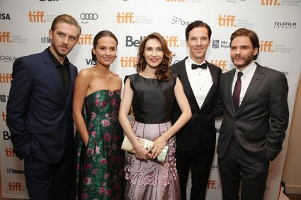 Bill Condon, Stacey Snider, Benedict Cumberbatch, Daniel Bruhl The Fifth Estate TIFF World Premiere red carpet Benedict cumberbatch