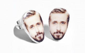 ryan Gosling Earrings rare stud backs rare promo