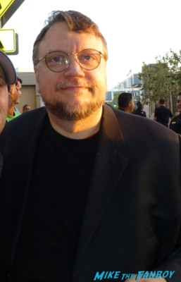 Guillermo del Toro signing autographs for fans  I'm So excited world movie premiere Pedro Almodovar signing autographs for fans rare