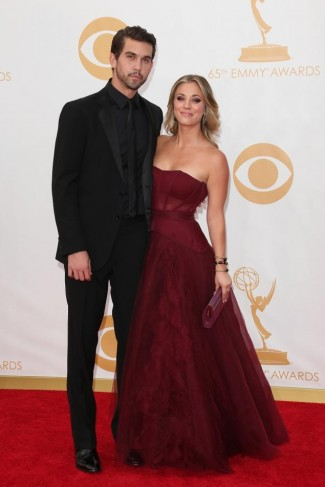 Kaley Cuoco red carpet photo from the Emmy's