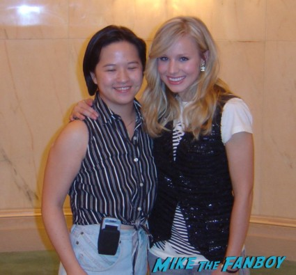 Kristen Bell signing autographs for fans rare promo hot sexy