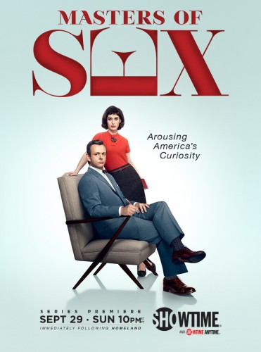 Masters of sex promo poster season 1 showtime series michael sheen lizzy caplan rare key art showtime series