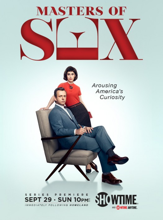 Masters of sex promo poster season 1 showtime series michael sheen lizzy caplan rare key art showtime series