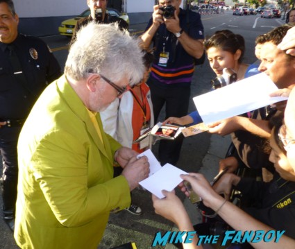 Pedro Almodovar signing autographs for fans rare director  I'm So excited world movie premiere Pedro Almodovar signing autographs for fans rare