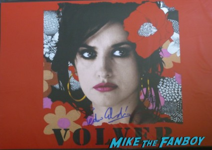 Pedro Almodovar signed autograph Volver poster signing autographs for fans rare director  I'm So excited world movie premiere Pedro Almodovar signing autographs for fans rare