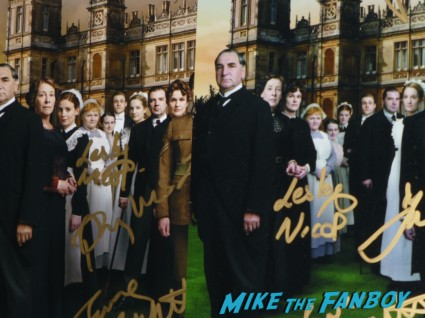 Downton abbey signed autograph cast photo poster rare promo hot rare, Lesley Nicol signing autographs for fans in person rare signing autograph downton abbey Lesley Nicol who plays Mrs. Patmore