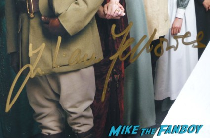 Julian Fellowes signing autographs for fans rare promo downton abbey