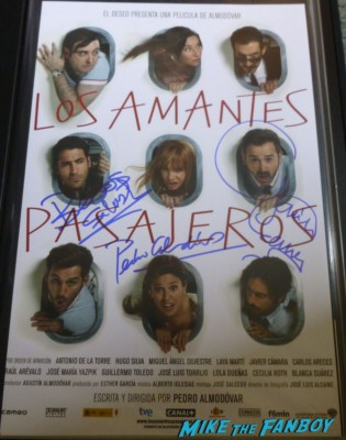 Pedro Signaure 1 Pedro Almodovar signed autograph Volver poster signing autographs for fans rare director  I'm So excited world movie premiere Pedro Almodovar signing autographs for fans rare