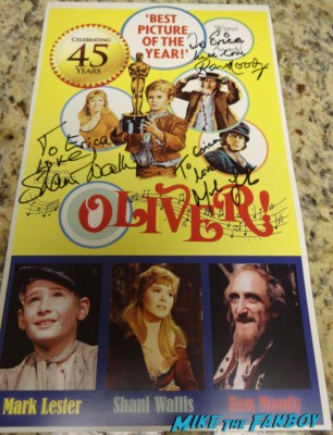 Oliver cast signed autograph movie poster Ron Moody now 2013 signing autographs Oliver 45th Anniversay screening and q and a Mark Lester