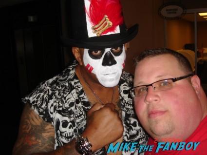 WWE wrestler Papa Shango AKA the Godfather fan photo signing autographs for fans rare promo