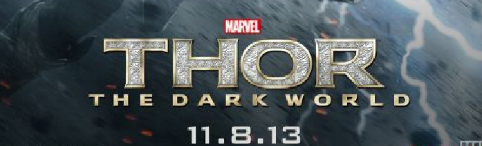 Thor: The Dark World movie poster logo chris hemsworth rare hot thor 2 one sheet teaser individual poster