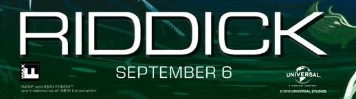 Riddick logo rare imax movie poster promo rare vin diesel