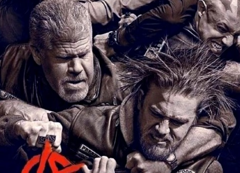 sons of anarchy season 6 promo poster rare hot sexy charlie hunnam rare
