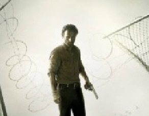 The Walking Dead logo title rare amc season 4 promo poster