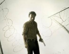 The Walking Dead logo title rare amc season 4 promo poster