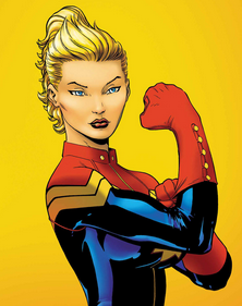 Captain Marvel superhero cartoon rare promo katee sackhoff