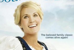 The sound of music live poster NBC CArrie Underwood rare