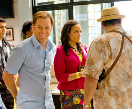 Dexter behind the scene still photos finale michael c hall