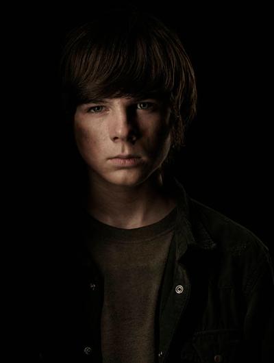 Chandler Riggs The Walking Dead season 4 Portrait Cast photo hot rare