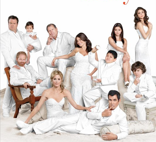 Modern family logo rare promo movie poster key art season 4 rare