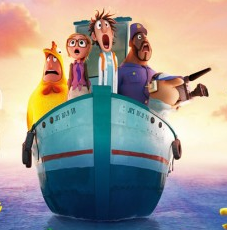 Cloudy with a chance of meatballs 2 movie poster logo