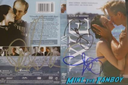 W.E signed autograph abbie cornish andrea risenborough James D'Arcy signing autographs for fans rare promo cloud atlas hot w.e.