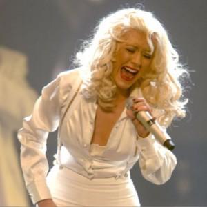 christina aguilera chest thump rare promo bleach blonde singer
