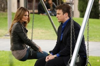 Castle season 5 press promo still nathan fillion stana katic rare promo still