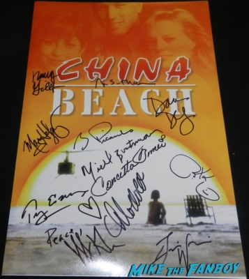 china beach signed autograph promo poster dana delany marg helgenberger cast q and a paley center dana delany marg helgenbur 064