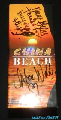 China Beach Complete series dvd set signed autograph dana delany marg helgenberger brian wimmer china beach signed autograph promo poster dana delany marg helgenberger cast q and a paley center dana delany marg helgenbur 064