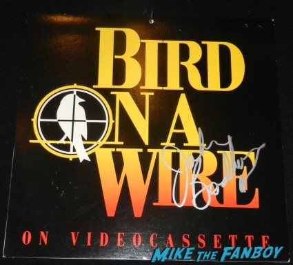 john badham signed autoggraph bird on a wire mobile rare goldie hawn dabney coleman signing autographs for fans 2013 wargames 011