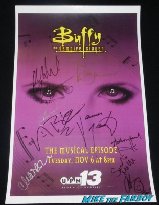 Sarah Michelle Gellar signed autograph signature rare promo buffy the vampire slayer mini poster once more with feeling