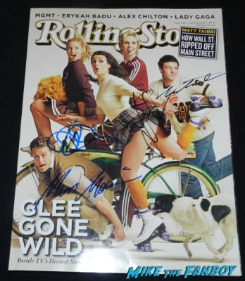 diana agron lea michelle corey monteith signed autograph rolling stone magazine signing autographs for fans glee star 017