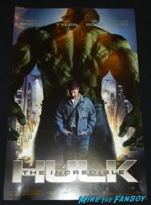 edward norton signed autograph the incredible hulk mini movie poster signing autographs 012