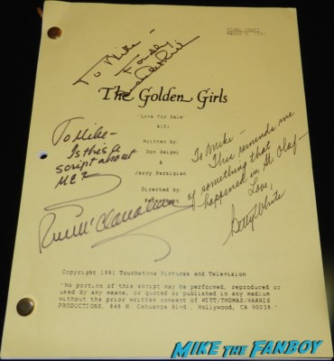 golden girls signed autograph script bea arthur betty white 011