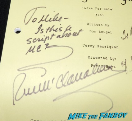 Rue McClanahan  signed autograph signature golden girls signed autograph script bea arthur betty white 014