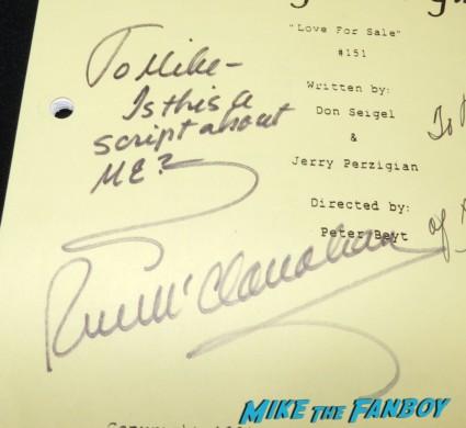 Rue McClanahan  signed autograph signature golden girls signed autograph script bea arthur betty white 014
