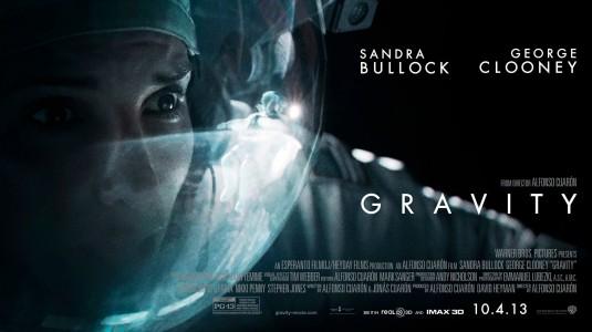 gravity_ver3 rare uk quad movie poster rare promo sandra bullock rare