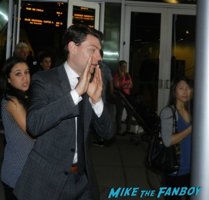 Patrick Fugit signing autographs for fans Thanks for sharing movie premiere Gwyneth Paltrow red carpet pink tim robbins
