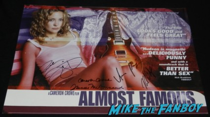 francis mcdormand patrick fugitt anna paquin signed autograph almost famous movie poster